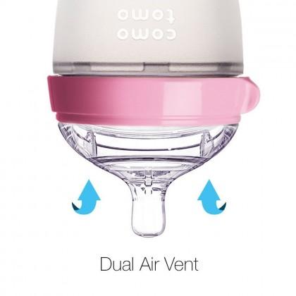 Comotomo Silicone Baby Bottle 8oz - Pink